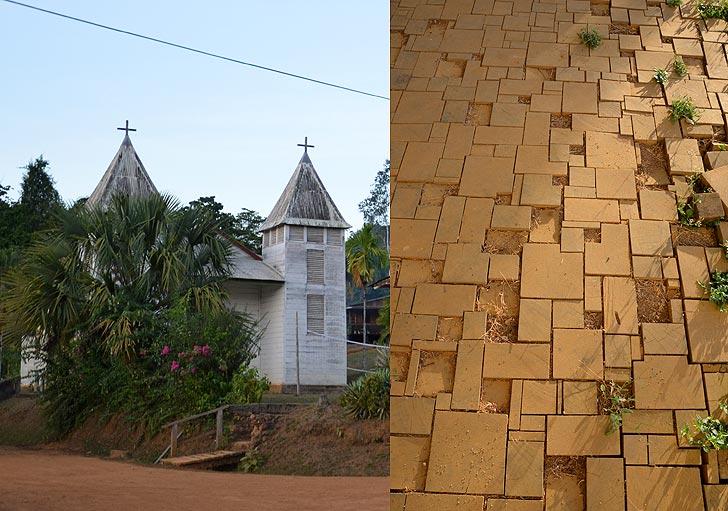 eglise de Saül et son pavement en bois