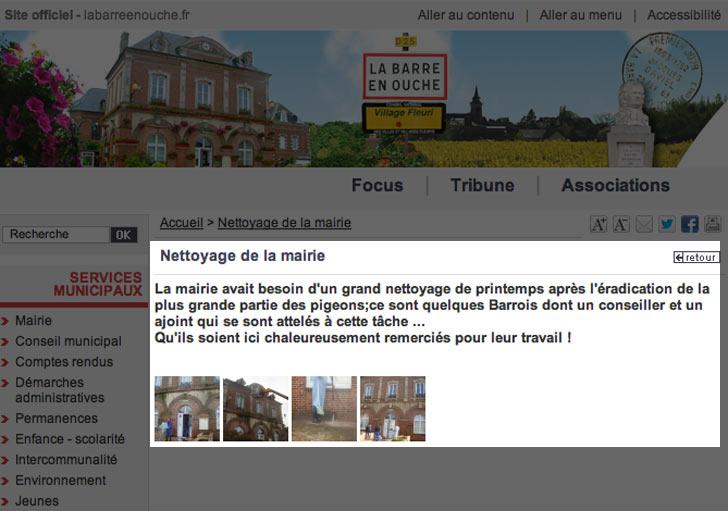 site web de la mairie